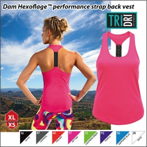 Dam Hexoflage™ performance strap back vest