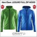 Craft Leisure full zip hoodtröja