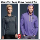 Long Sleeve Hooded T-shirt med eget tryck
